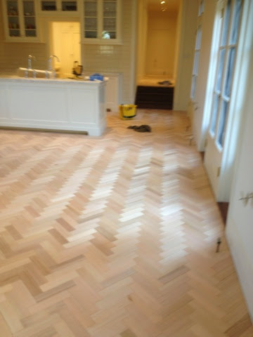 Parquetry stained with Brown Japan and