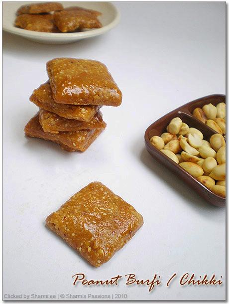 Peanut Burfi(Chikki) Recipe