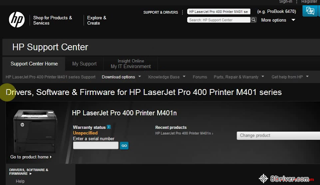 download HP LaserJet Enterprise P3015 Printer driver 1