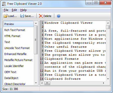 Free Clipboard Viewer 2.0