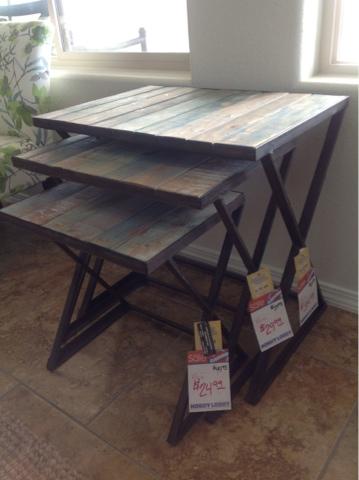 Nice They Are Real Wood And Metal. Exactly What I Wanted. I Even Like Them  Better Than The Pottery Barn Nesting Tables.