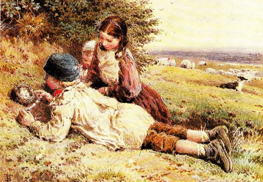 Myles Birket Foster - Collecting Bird's Eggs.