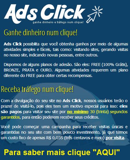 Portal de anúncios e clicks grátis.