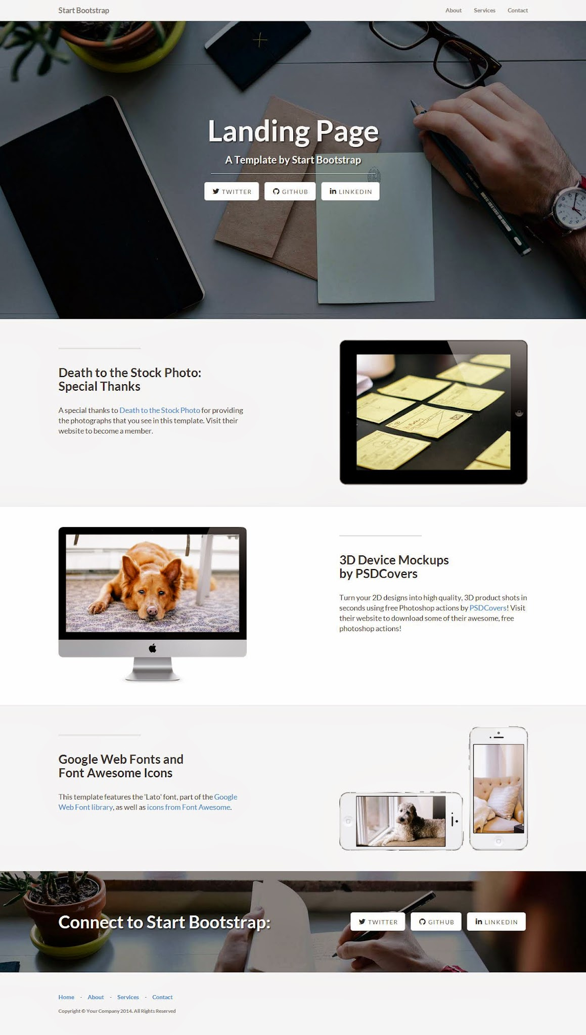 Free Bootstrap Themes Full Screenshot