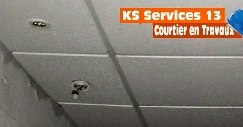 ks services 13 prix devis pose faux plafond en cadrettes ou en dalles. Black Bedroom Furniture Sets. Home Design Ideas