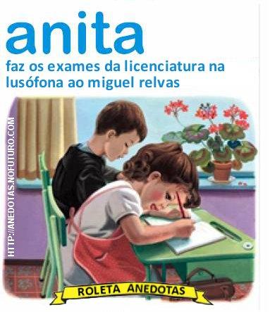 Anita faz os exames da licenciatura na Lusófona ao Miguel Relvas