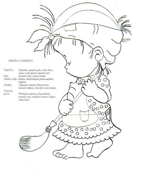 desenho de criança varrendo o chão para colorir desenhos para colorir