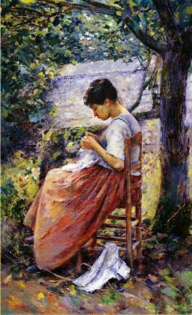 Theodore Robinson - The Layette(1892)