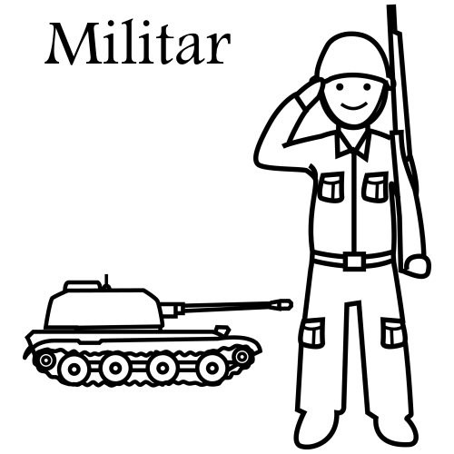 Militär. Kostenlos Malvorlagen