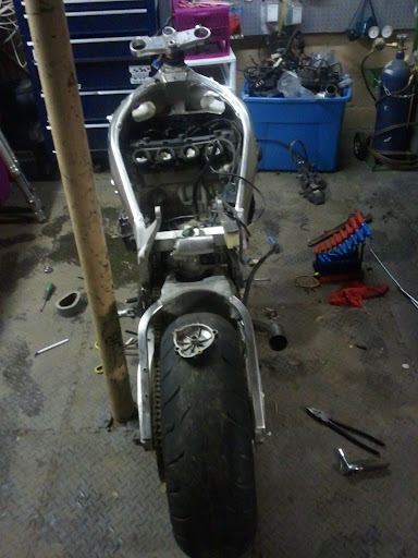Started the GSXR Build - Honda Hawk GT Forum