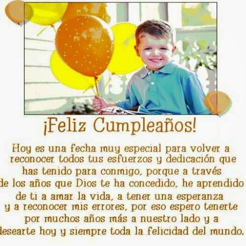 Mejores Saludos de cumple para mi hijo ~ Frases de cumpleaños