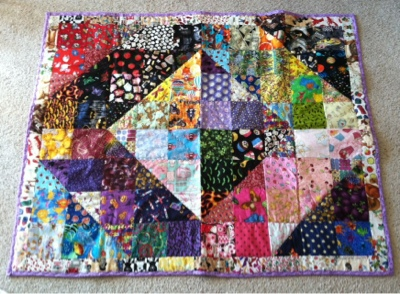 Sherbert Cafe Super Easy Half Square I Spy Quilt