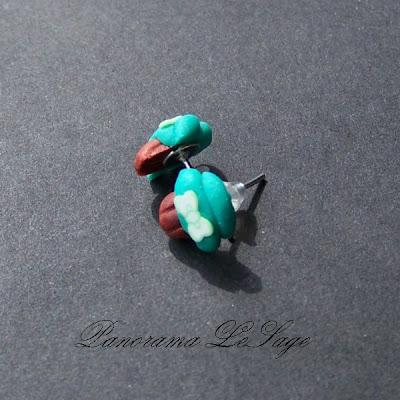 kolczyki wkręty wkrętki babeczki ciasteczka biedroneczki cup cake fimo polimer kolczyki biżuteria kolorowe Panorama LeSage