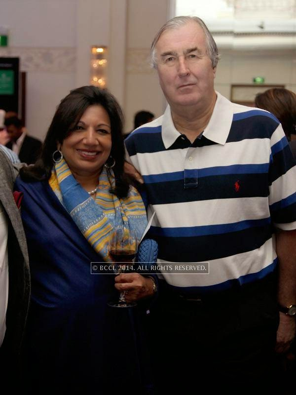 Kiran Mazumdar Shaw and John Shaw at the RNGM golf event that was held at the Mysore Hall at the ITC Gardenia, Bangalore.