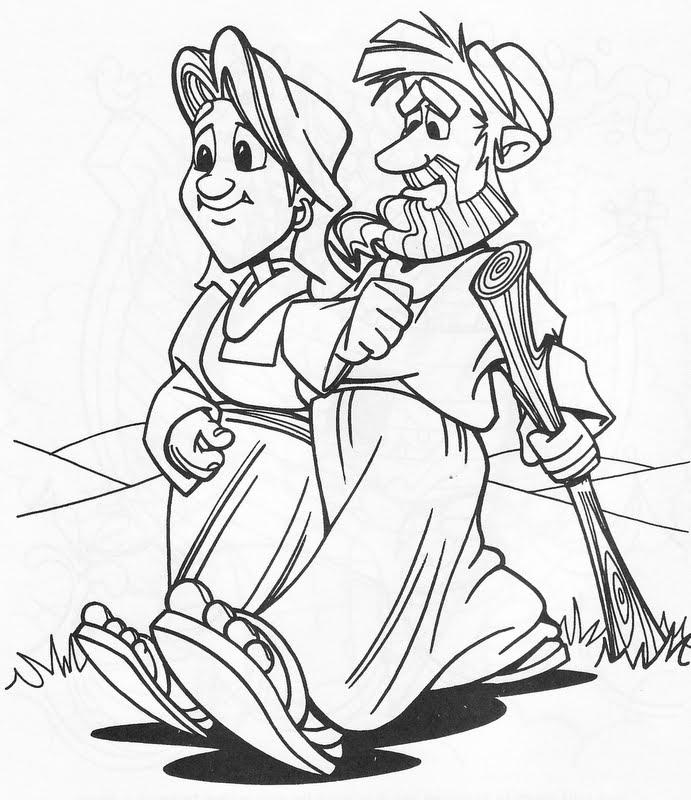 Abraham deja su país para colorear