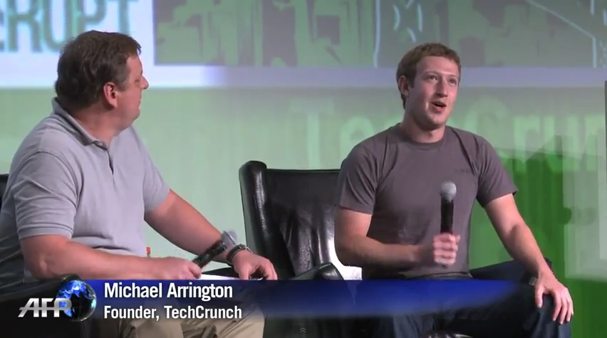 Mark Zuckerberg, Facebook focus more on Mobile Video, Michael Arrington, TechCrunch
