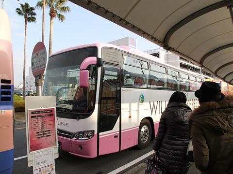 ウィラーエクススプレス西日本 大阪南港京都線 大阪南港フェリーターミナルにて