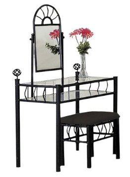 Black Bedroom Vanity