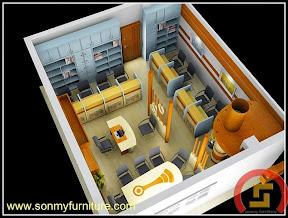 Mẫu thiết kế nội thất văn phòng SMF722