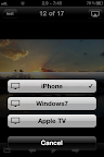 Select Aerodrom Airplay in the photo app.