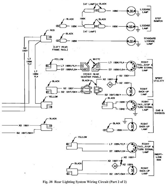 taillight wiring diagram dodgeforum com 1993 Dodge D350 Safety Rating