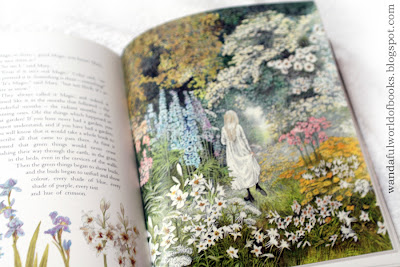 The Secret Garden, illustrated by Inga Moore, Mary in the secret garden