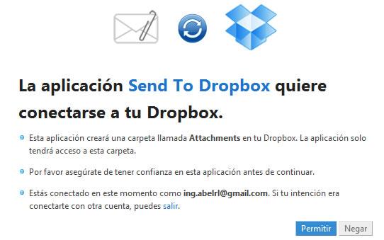 send to dropbox