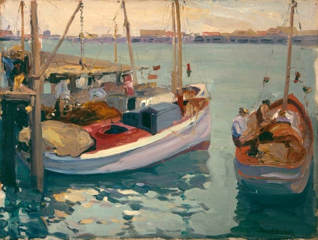 Franz Bischoff - Boats at the Dock