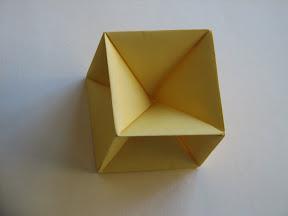 Cube Skeleton From Miyuki Kawamuras Polyhedron Origami For Beginners