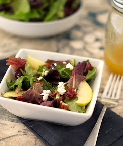 Baby greens with maple dressing