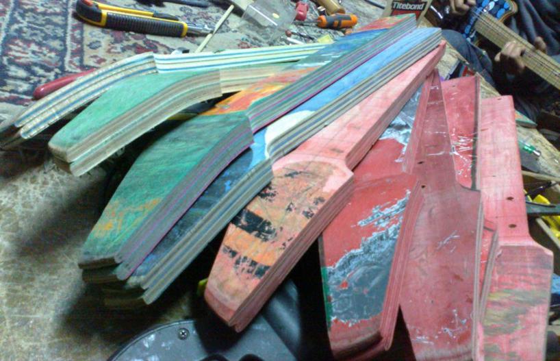 *Skate Guitar 回收再生:電音滑板吉他! 10