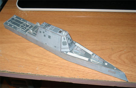 Zumwalt Destroyer Papercraft