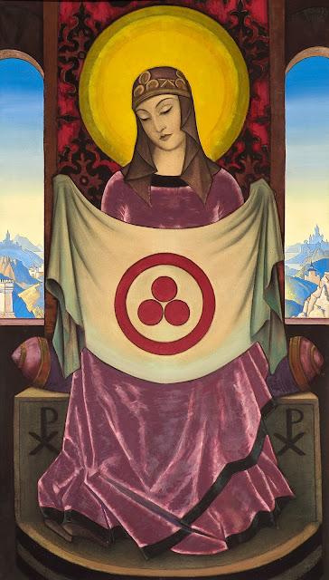 Nicholas Roerich - Madonna Oriflamma