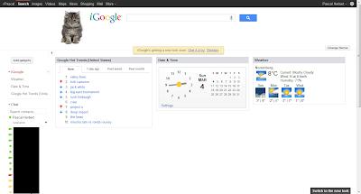 iGoogle Design Herbst bis März 2012