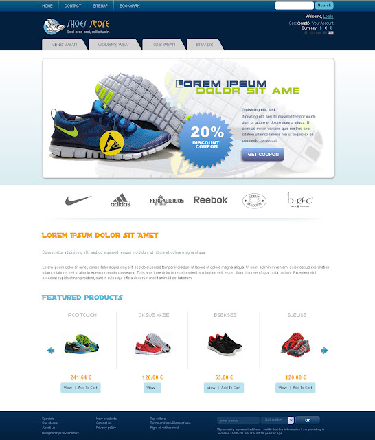 Prestashop Themes for Shoes Store or Collection