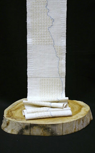 """Woven Scroll"" by artist Melissa Whitwam."