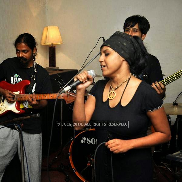 Brahmakhyapa band performs at Plush in Kolkata.