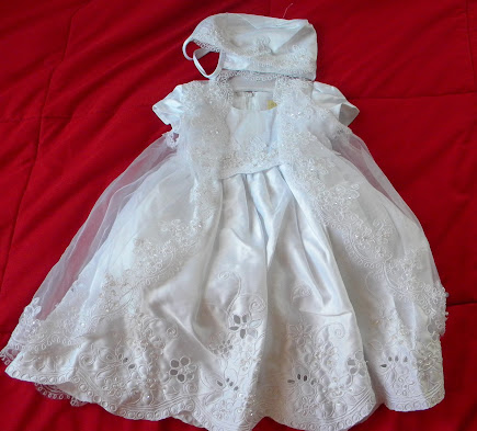 Angels Girl Toddler WHITE Christening Baptism Dress Gown/#XS/S/M/L/XL/0-3M/3-6M/6-12M/12-18M/18-24M/XSMALL/SMALL/MEDIUM/LARGE/XL/5422 at Sears.com