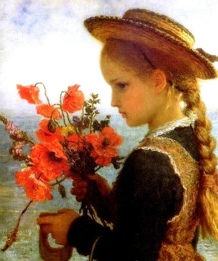 Karl Wilhelm Friedrich Bauerle - Poppy girl