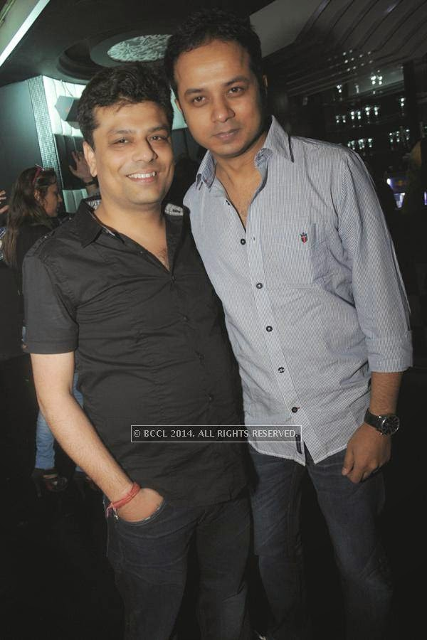 Ashish Nagpal and Ankit during the party, held at BW club, New Friends Colony.