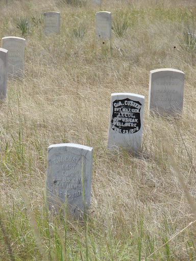 General Custer's tomb at Little Bighorn Battlefield National Monument