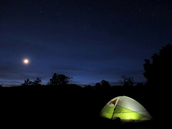 My tent and the moon
