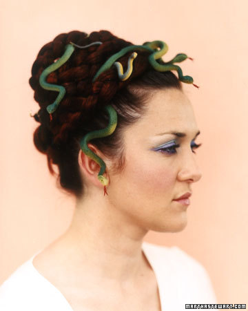 You could be a very chic Medusa with some small rubber snakes.