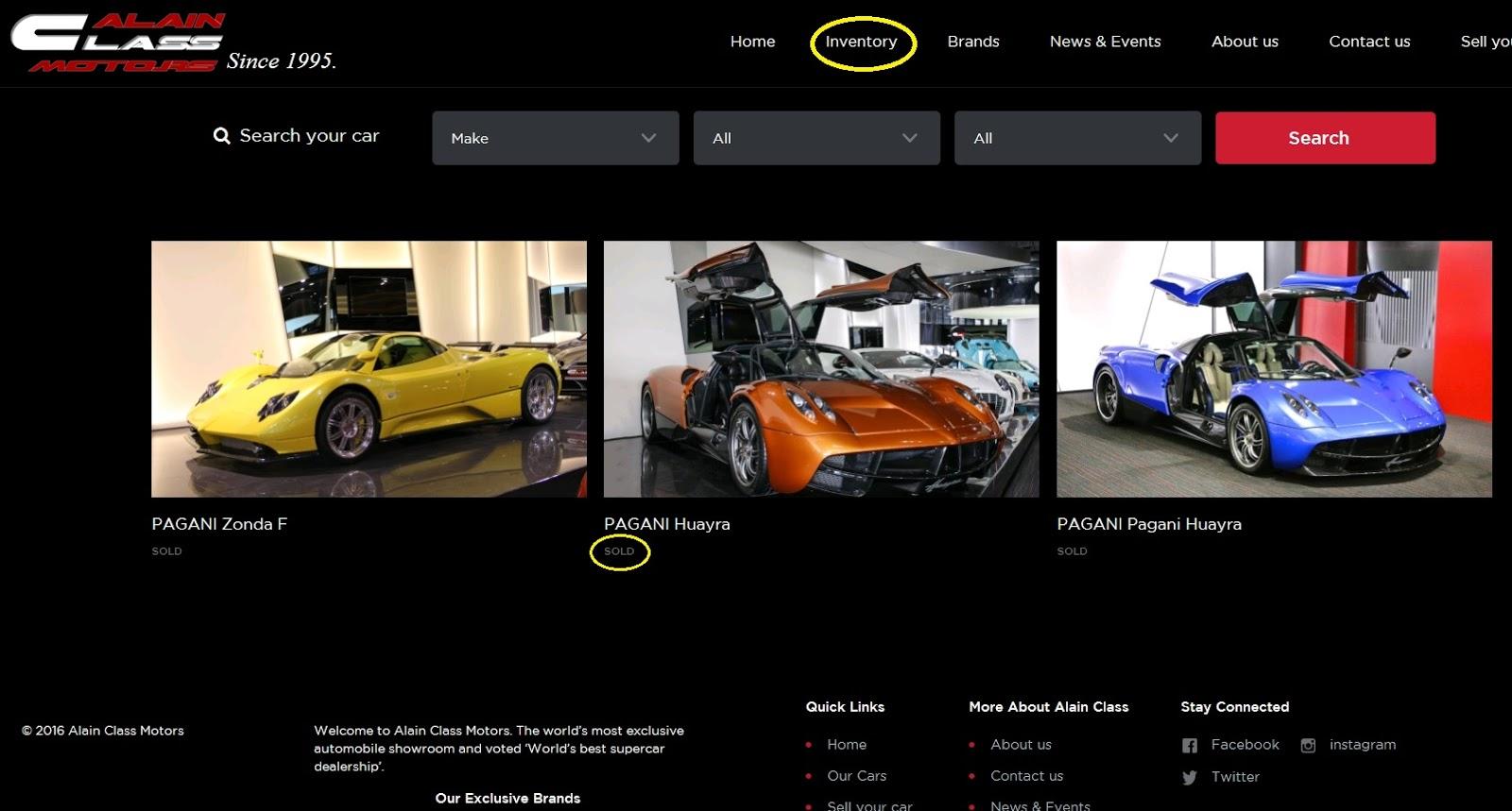 Trang chủ Alain Class Motor xác nhận đã bán hết Pagani