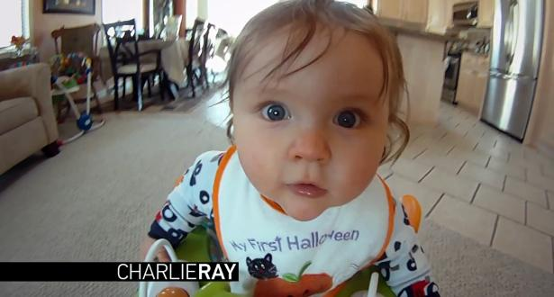 "Baby Charlie Ray In GoPro's Super Bowl Commercial ""Dubstep Baby"""