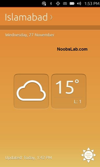 Ubuntu Touch weather