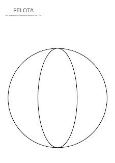 Dibujo de la pelota para imprimir, colorear y pintar