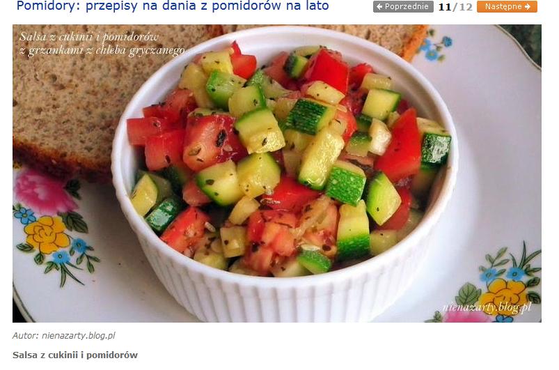 salsa z cukinii i pomidorów