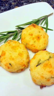 Cheddar Rosemary Gougeres dough, after forming it into the balls about 1 inch in order to make these cheesy puffs bite size to eat between sips of champagne or sparkling wine!