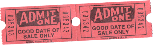 Tibb's Drive-In Movie ticket sub